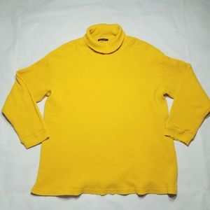 Boston Proper Yellow Turtleneck Long Sleeve Top
